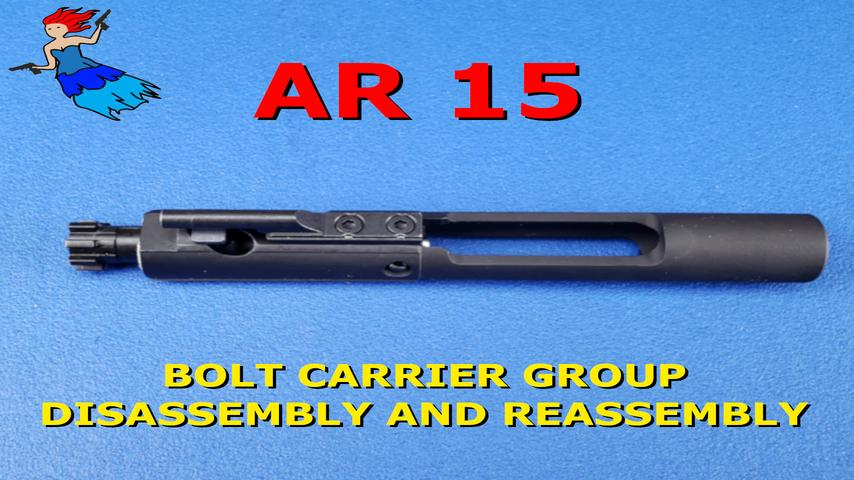AR 15 bolt carrier group disassembly and reassembly