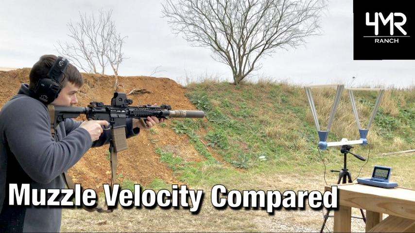 How Much Do Silencers and Barrel Length Affect Muzzle Velocity?
