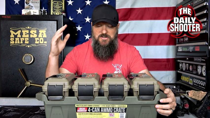 MTM 4 Can Ammo Crate Cheap Storage Solution